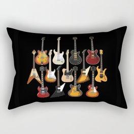 Too Many Guitars! Rectangular Pillow
