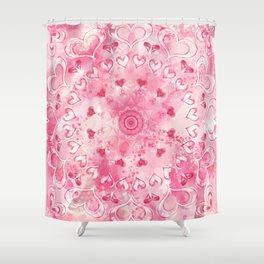 """The Suitor's Plea"" Kaleidoscope 5 by Angelique G. @FromtheBreathofDaydreams Shower Curtain"