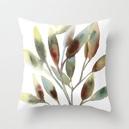 Leaves branch Throw Pillow