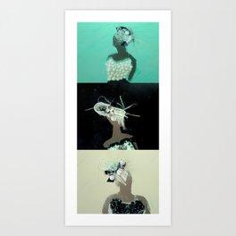 Mirrored Trio Art Print