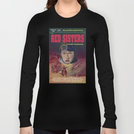 """Red Sisters"" Book Cover Long Sleeve T-shirt"
