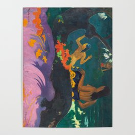 Paul Gauguin - By the Sea- Tropical Decor Poster