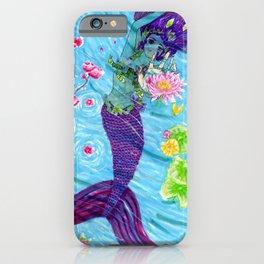 Floral Mermaid iPhone Case