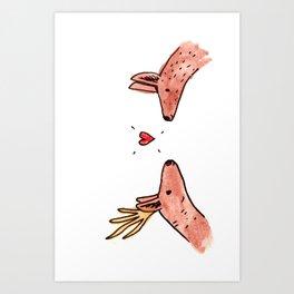 Deer Crush Art Print
