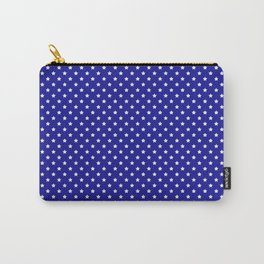 Blue and White Stars Carry-All Pouch