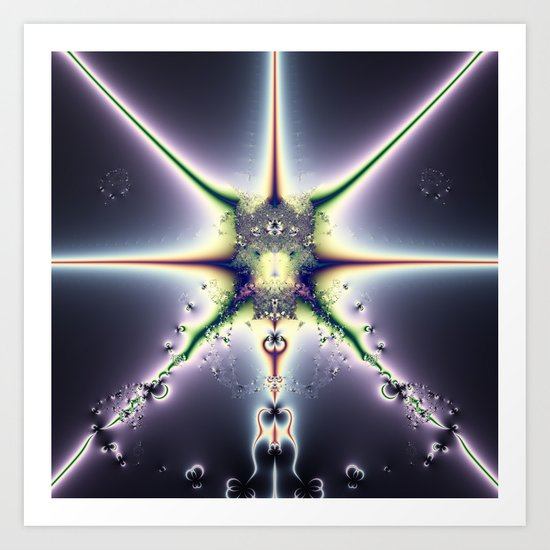 Purple Space Art Print