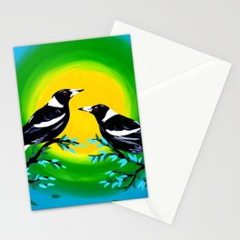 Sun and Birds Stationery Cards