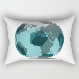 Football World Globe Rectangular Pillow