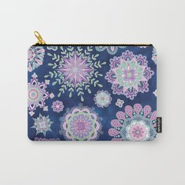 Folky SnowFlowers Carry-All Pouch