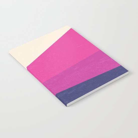 Stripe IV Violet Ray Notebook
