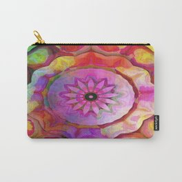 Ruffled Rainbow Flower Carry-All Pouch