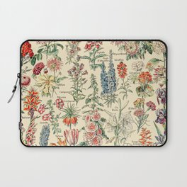 Vintage Floral Drawings // Fleurs by Adolphe Millot XL 19th Century Science Textbook Artwork Laptop Sleeve