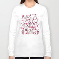 kawaii Long Sleeve T-shirts featuring Kawaii Friends by Gina Mayes