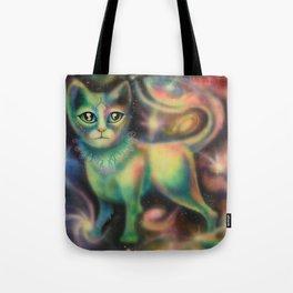 Cosmic Kitten Tote Bag