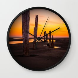 Pacific Beach Sunset Wall Clock