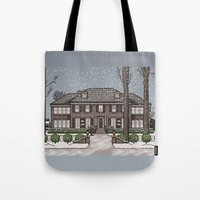 home alone Tote Bags featuring Home Alone Christmas by M. Gulin