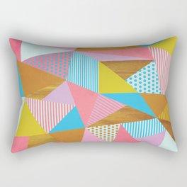 Wooden Colorful Rectangular Pillow