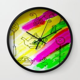 Kitchenware Wall Clock