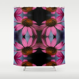 Coneflower with Bug Shower Curtain