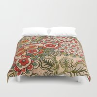 paisley Duvet Covers featuring paisley by Love on a Bike