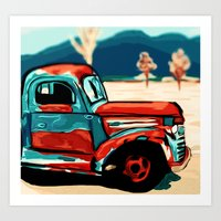 truck Art Prints featuring Truck  by Relic X