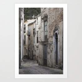 Sicilian Alley in Caltabellotta Art Print
