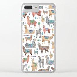 Llamas and Alpacas Clear iPhone Case