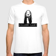 KILLER LADY LOGO ONE  SMALL White Mens Fitted Tee