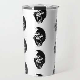 Angry Gorillas Pattern Travel Mug