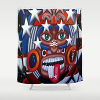 native Shower Curtains featuring Native by Lost River Photography
