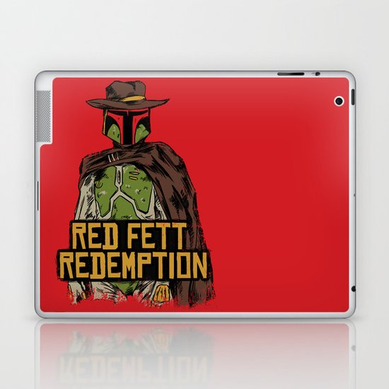 Red Fett Redemption Laptop & iPad Skin