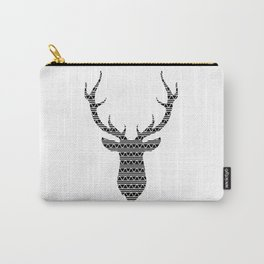 Patterned Stag's Head Carry-All Pouch