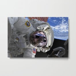38. Replacing the Space Station's Solar Array Batteries Metal Print