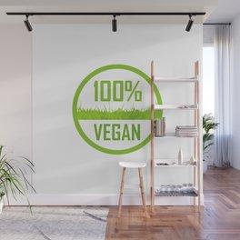100 percent Vegan Wall Mural