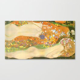 """Gustav Klimt """"Water Serpents"""" Canvas Print"""