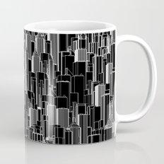 Tall city B&W inverted / Lineart city pattern Mug