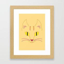 Funky Cat (yellow) Framed Art Print