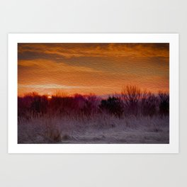Early Morning in an English field Art Print