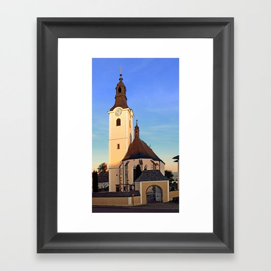 The village church of Sankt Oswald bei Haslach | architectural photography Framed Art Print