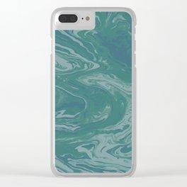 Green Terrain Clear iPhone Case