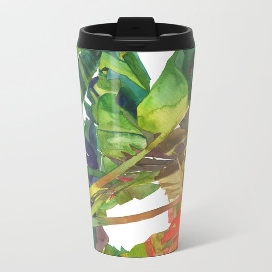 Bananas leaves Metal Travel Mug
