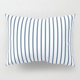 Iris Blue Pinstripe On White Pillow Sham