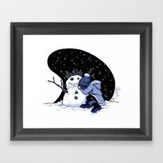 Sad Snow Framed Art Print