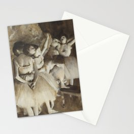 Ballet Rehearsal on Stage Stationery Cards