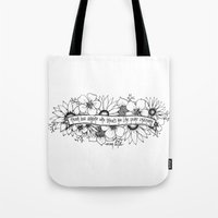 oscar wilde Tote Bags featuring Oscar Wilde flowers by Narts and Crafts