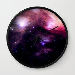 Galaxy : Pleiades Star Cluster nebUlA Purple Pink Wall Clock