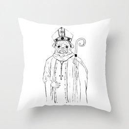 The Pug Throw Pillow