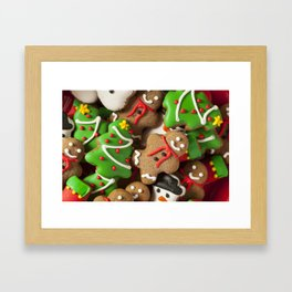 Delicious Christmas Cookies Framed Art Print