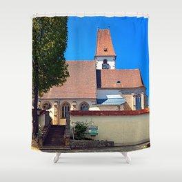 The village church of Hirschbach Shower Curtain