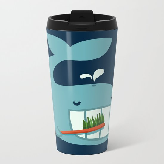 Brush Your Teeth Metal Travel Mug
